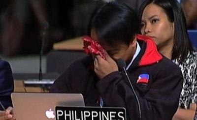 İklim zirvesine Filipinler temsilcisi damga vurdu