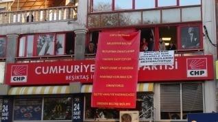 CHP Beşiktaş İlçe Başkanlığı'nda işçi eylemi