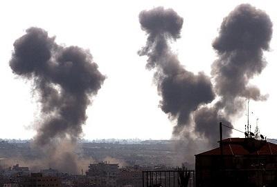 Gazze'de patlama: 4 yaralı