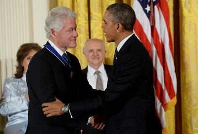 Obama'dan Bill Clinton'a Özgürlük Madalyası