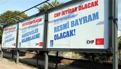 CHP'den Diyarbakır'da afişli mesaj