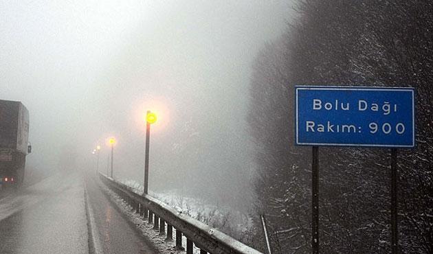Bolu'da kar yağışı uyarısı