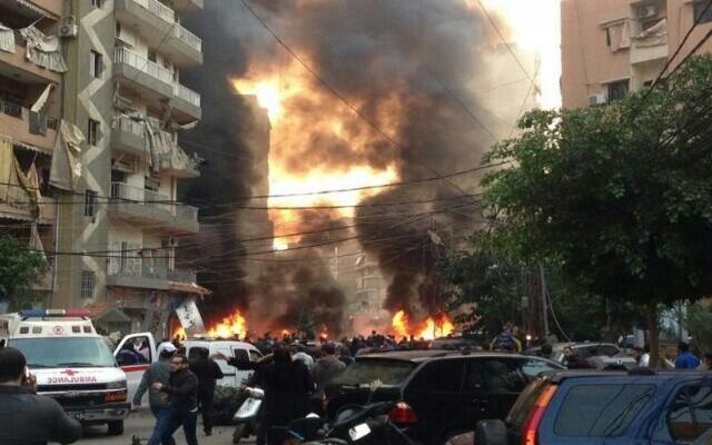 Beyrut'un güneyinde şiddetli patlama: 4 ölü