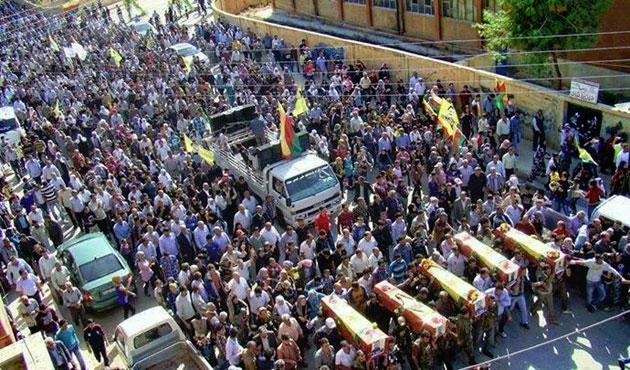 Ölen YPG'liler için Kamışlı'da tören