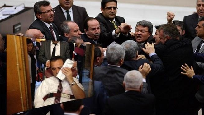 Ak Parti ve CHP'li vekilerden yumruklu kavga