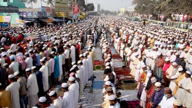 Bangladeş'te milyonlarca Müslüman bir araya geldi