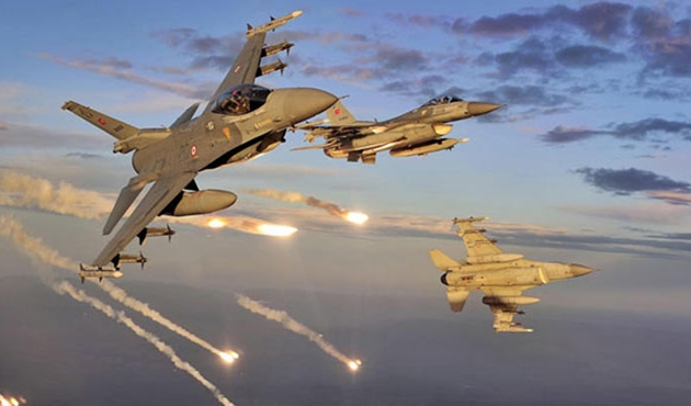 Suriye füzeleri yine Türk jetleri taciz etti