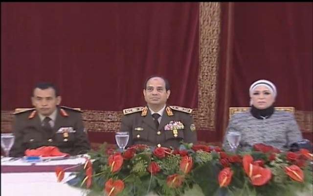 Sisi'nin eşi ilk kez objektif önünde
