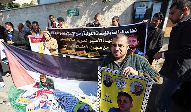 Gazze'de Filistinli tutsaklara özgürlük eylemi