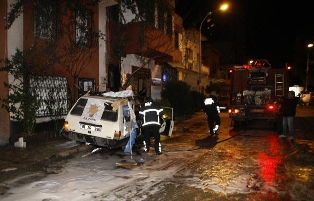 Adana'da molotoflu saldırı
