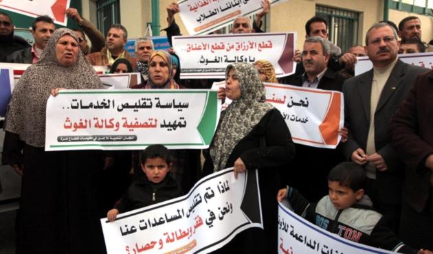 Gazze'de BM yardım kuruluşuna protesto