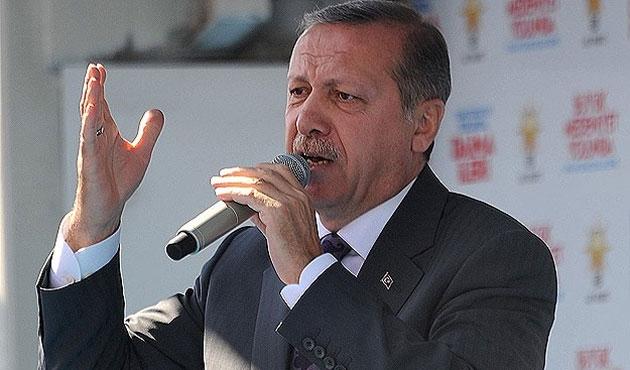 Erdoğan bant kaydıyla Konya'da konuşuyor