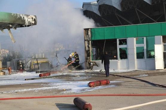 Bolu'da CNG dolum istasyonunda patlama