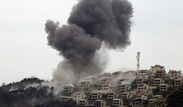 Keseb yoğun bombardıman altında!