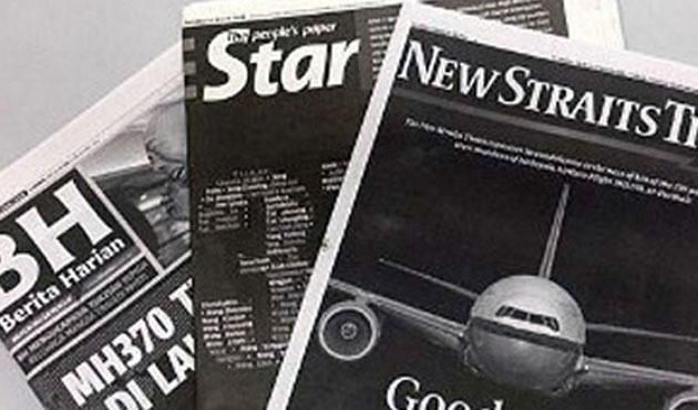 Malezya'da gazeteler siyah çıktı