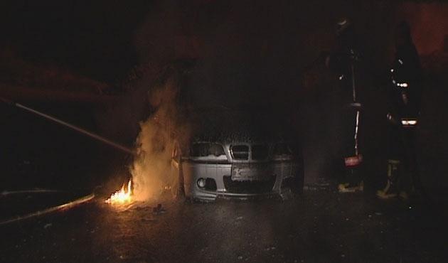 Ankara'da araç kundaklandı
