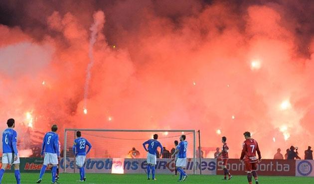 Saraybosna'da maçtan sonra olay çıktı