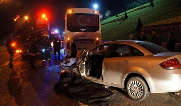 Ümraniye'deki kazada 2 ölü, 1 yaralı