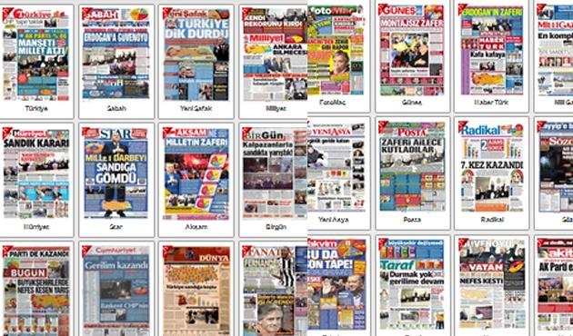 Gazeteler sonuçları böyle gördü