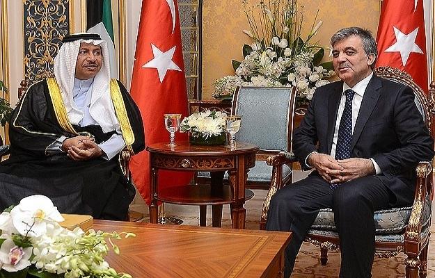 Cumhurbaşkanı Gül Kuveyt Başbakanı ile görüştü
