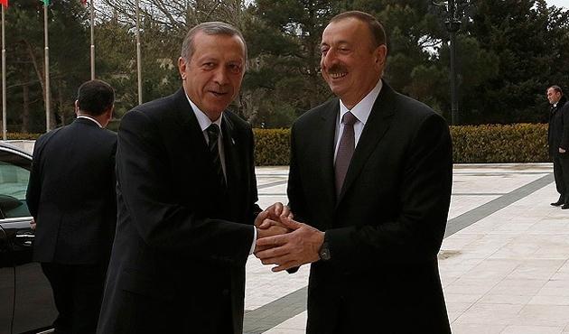 Erdoğan ile Aliyev Bakû'de bir araya geldi