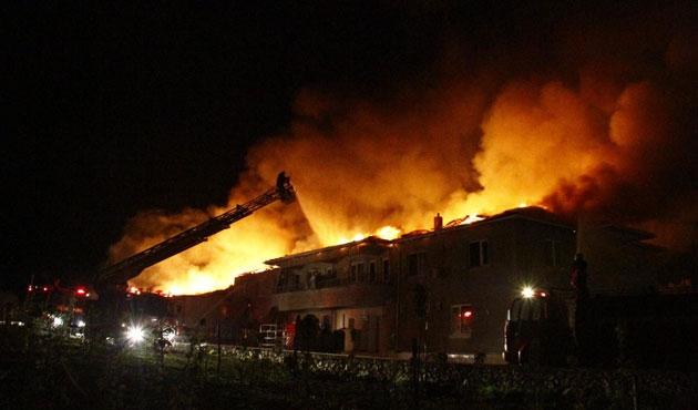 Amasya'da fabrika yandı