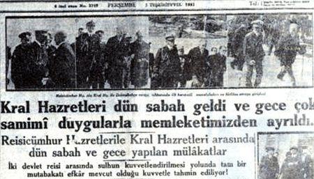 Yugoslavya kralı İstanbul'a geldi