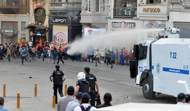 Taksim'de gösterilere müdahale
