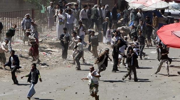 Yemen'in başkenti Sana'da çatışma
