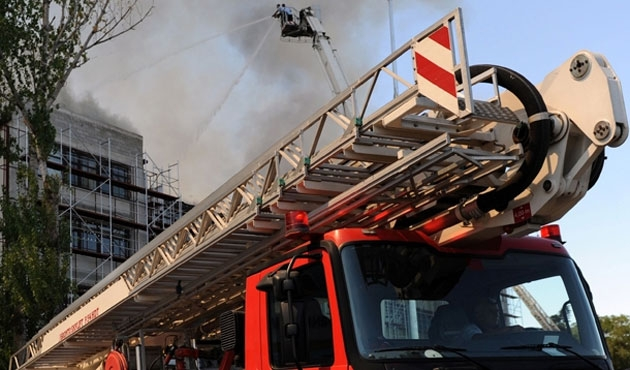 Konya'da lise pansiyonunda yangın