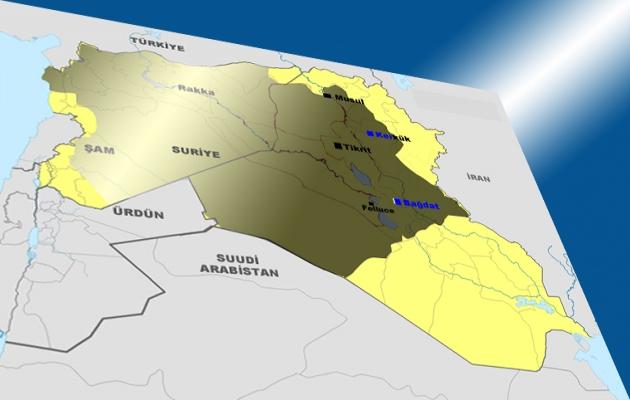 IŞİD'in ilerleyişinde son durum-HARİTA