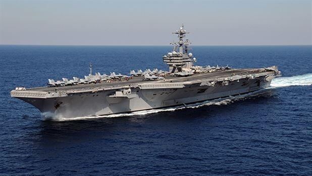 ABD uçak gemisi Basra Körfezi'nde