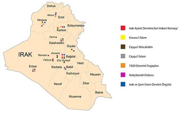 Irak'ta hangi silahlı gruplar etkili-HARİTA