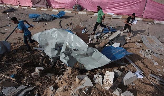 İsrail, Gazze'de 4 ayrı noktaya saldırdı