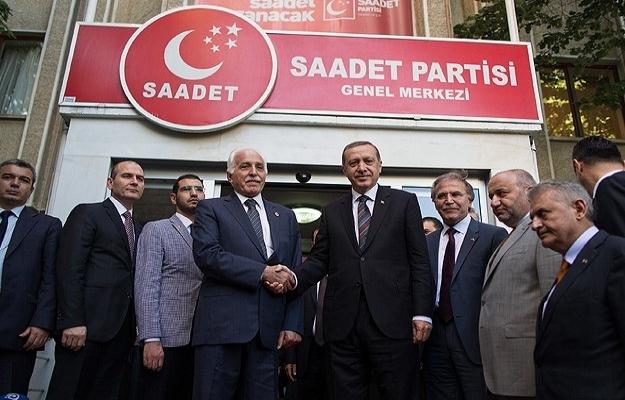 Erdoğan'dan Saadet Partisi'ne ziyaret