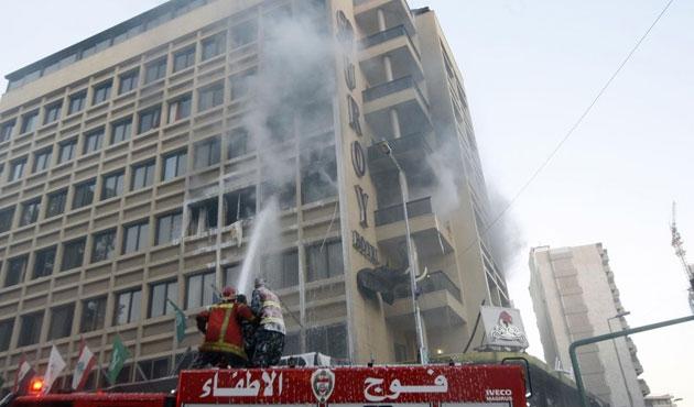Lübnan'da otelde patlama