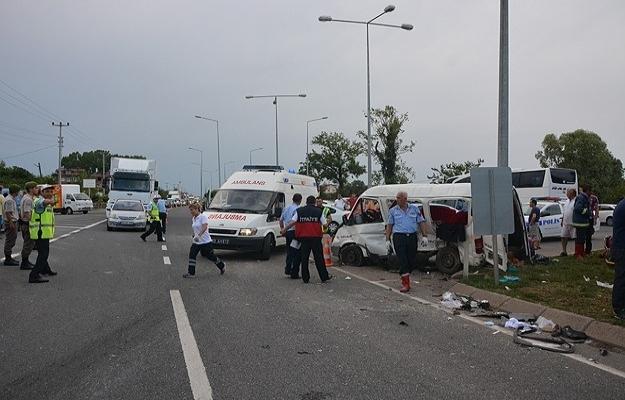 Ordu'da trafik kazası: 14 yaralı