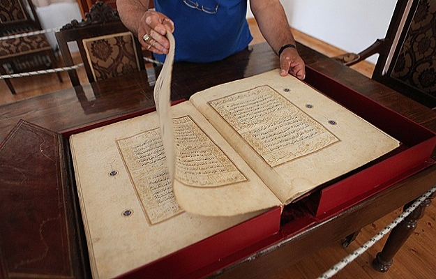 Rodos'ta 613 yıllık el yazması Kur'an mushafı