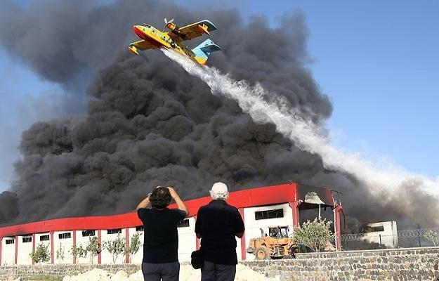 Gaziantep'teki fabrika yangını sürüyor