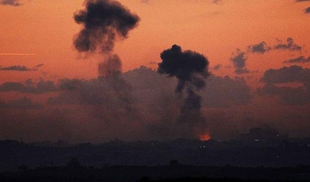 İsrail'den Gazze'ye yoğun hava saldırıları