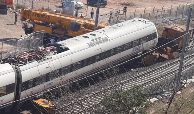 Yüksek hızlı trenin test sürüşünde kaza