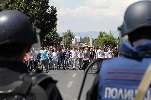 Makedonya'da protestolar sürüyor