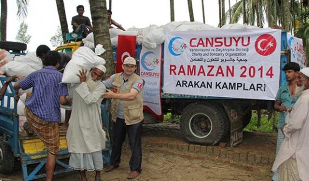 Arakanlı mültecilere ramazanda yardım eli