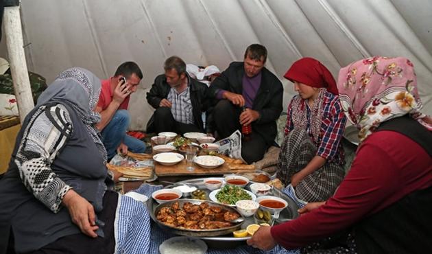 Yaylada Ramazan böyle olur! / FOTO