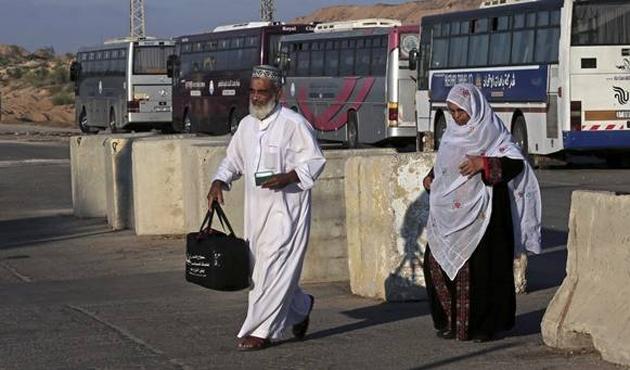 Gazzeliler Mescid-i Aksa'ya gidiyor