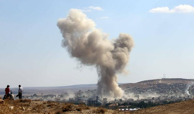 IŞİD Kobani'de en büyük saldırıyı düzenledi
