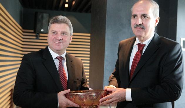 Kurtulmuş, Makedonya cumhurbaşkanıyla görüştü