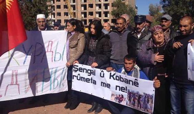 Kırgızistan'da Kobani eylemi