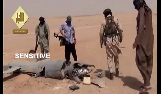 IŞİD ABD keşif uçağını düşürdü-VİDEO