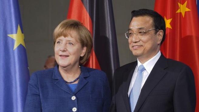 Merkel Çinli Başbakanı ağırladı, dev ihaleyi kaptı